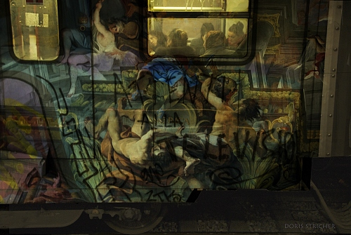 metro in Roma with graffiti and baroque paintingd from an italien church - © Doris Stricher