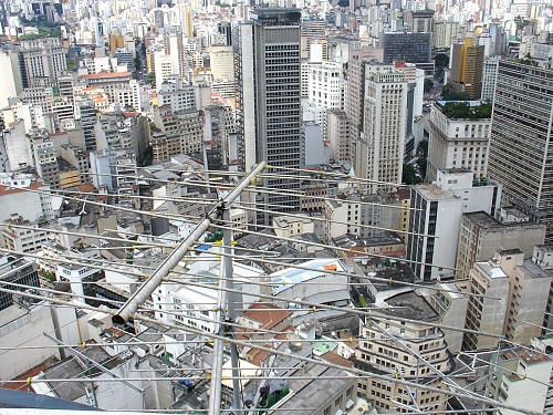 Sao Paolo ( Brasil) urban density, a view from the 50th floor - © Doris Stricher