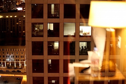 Chicago at night - 3 different visions from inside to outside - © Doris Stricher