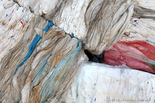 colored plastic bags for recycling - abstract poetic photography  - © Doris Stricher