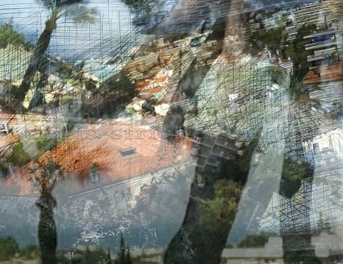 photo-painting-drawing. In the mood of Bonnard & Cézanne. South of France,  - © Doris Stricher