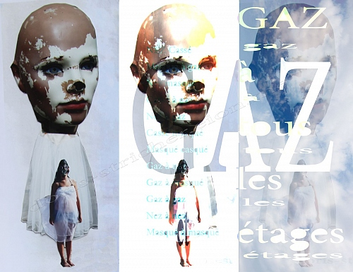 collage, photography, digiart. Gaz à tous le étages / Gas at any level. Con - © Doris Stricher