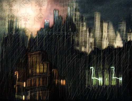 Poetic vision of Chambord, a Castle in France at the Loire. Night life, gho - © Doris Stricher