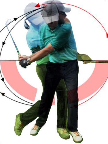 golf photomontage - perfect swing! - © Doris Stricher