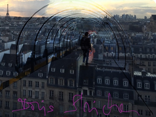 Paris-photography from the top of the Centre Pompidou, a wide view. + Digit - © Doris Stricher