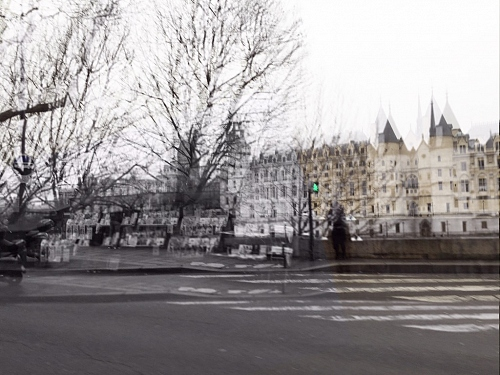 Paris - digital art photography of the Conciergerie at the Seine  - © Doris Stricher