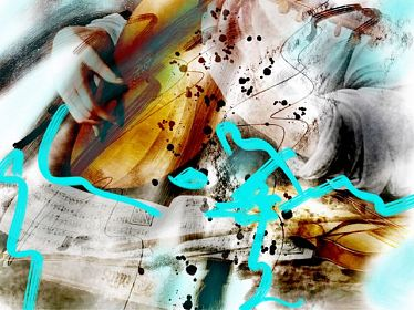 Musique coronarienne #digital #art #photo #painting #artcontemporain #techn - © Doris Stricher